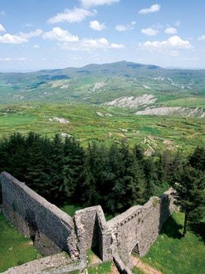 The view from Radicofani, Tuscany