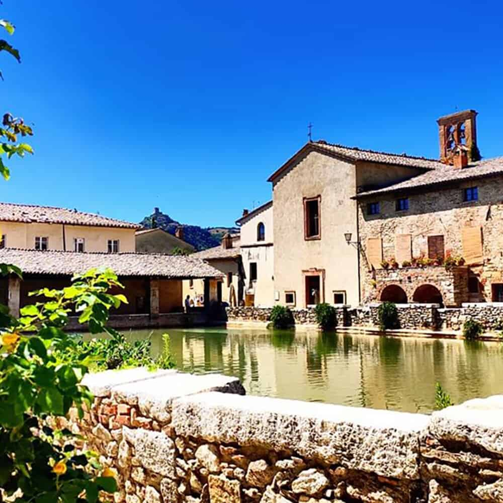 the hotsprings of Bagno Vignoni in Tuscany