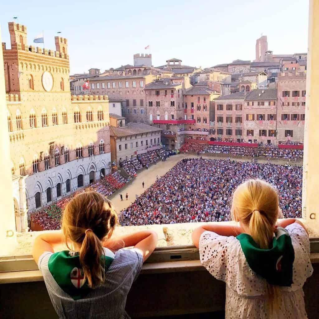 exclusive view Palio di Siena