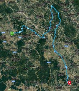 Tuscany Trekking Map