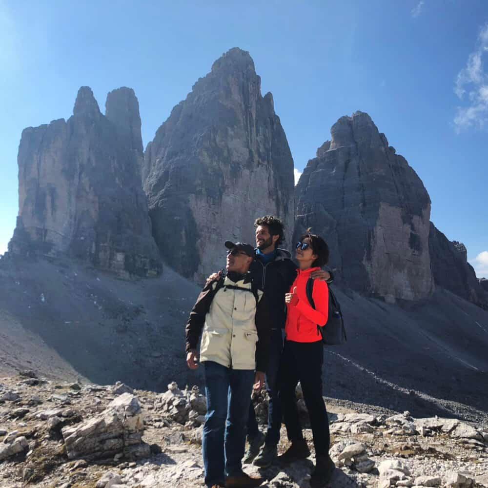 Tre Cime di Lavaredo the three peaks of Dolomites trekking tour