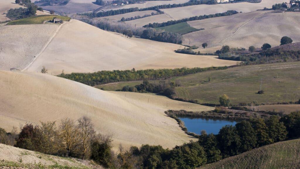 Crete Senesi rolling hills in Tuscany